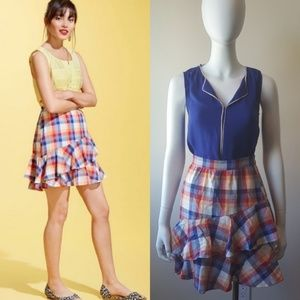 Modcloth Oh-So-Noticed Mini Skirt in Plaid